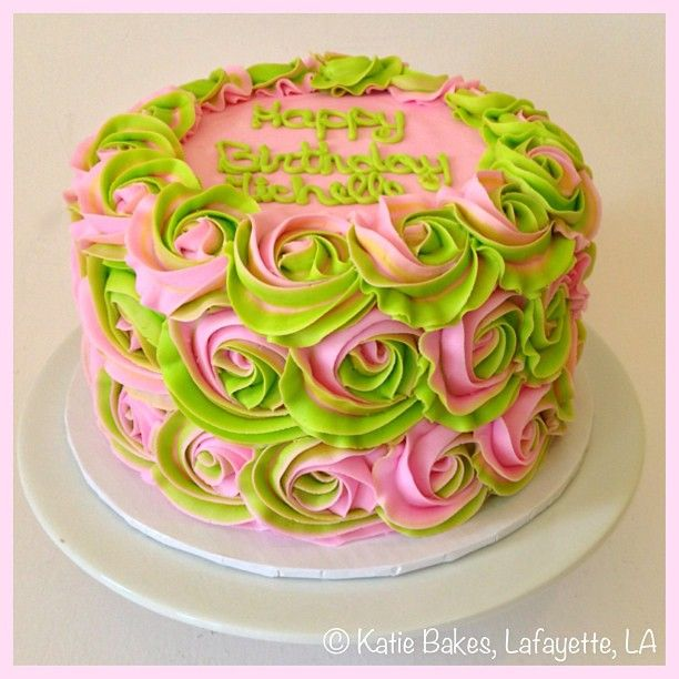 Amazing Pink And Green Cake Green Cake Funny Birthday Cards Online Alyptdamsfinfo