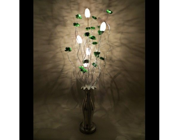Silverado ceramic vase woven wire aluminium floor lamp featuring silverado ceramic vase woven wire aluminium floor lamp featuring metal green flowers aloadofball Image collections