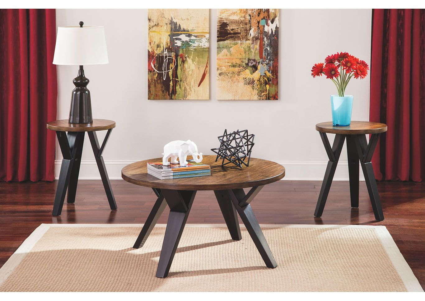 Accent Tables Buy Accent Tables Online At Best Price Ashley Furniture Homestore India Living Room Table Sets Coffee Table Coffee Table Setting [ 968 x 1366 Pixel ]