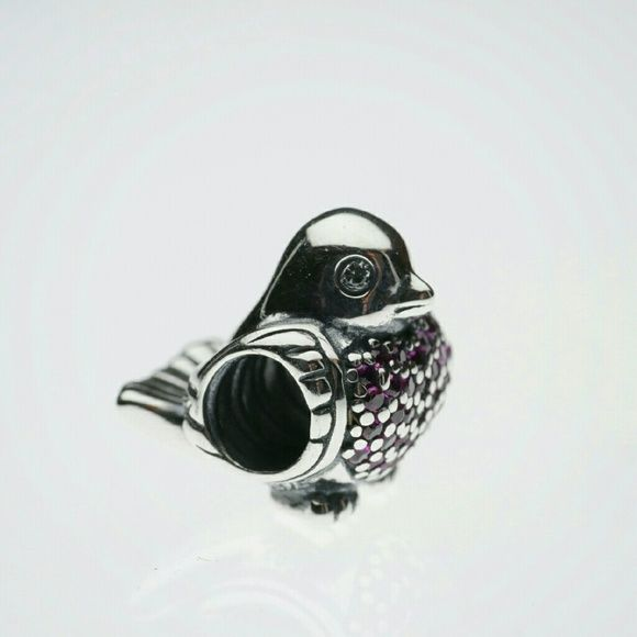 Pandora Red Robin charm Pandora Red Robin silver with red and clear CZ charm.   Hallmarked S925 ALE. No trades please.   Thanks and check out my closet for more great items! Pandora  Jewelry Bracelets