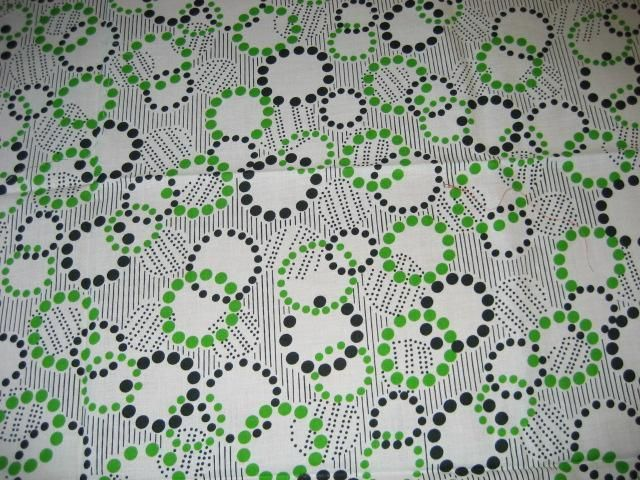 textile imprimé vintage 60/70'