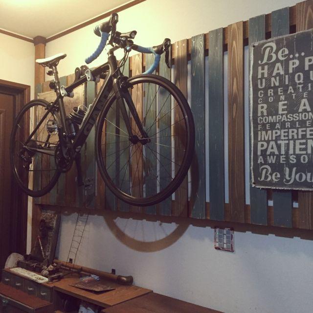 壁 天井 自転車壁掛け 自転車 ロードバイク 2 4材 などのインテリア