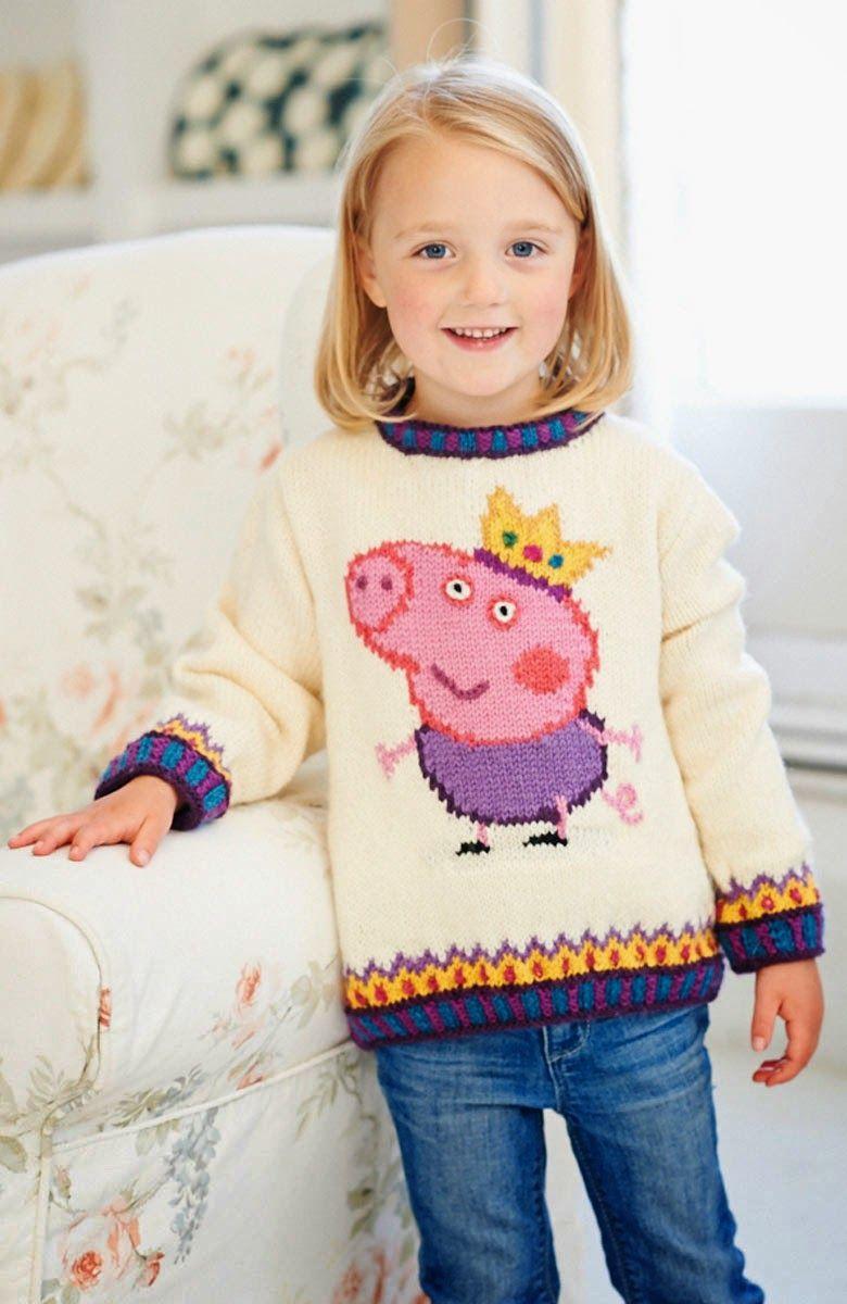 Χειροτεχνήματα: Σχέδια ζακάρ για παιδικά πλεκτά / Intarsia knitting ...