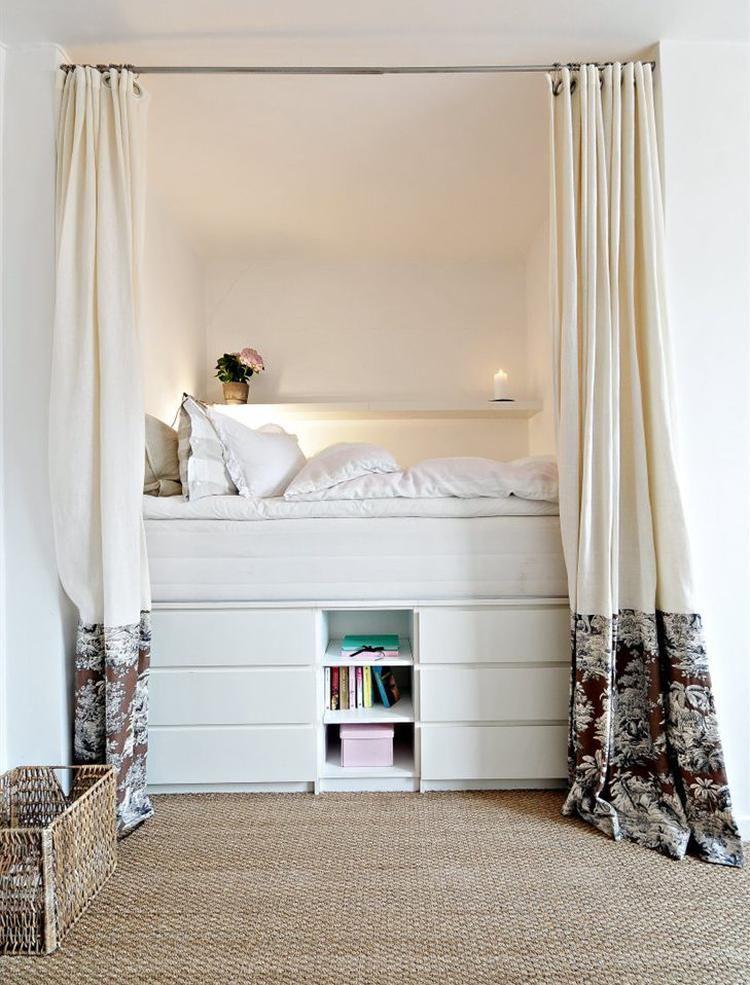 Sehe dir das Foto von Schneiderlein mit dem Titel Schöne Idee wenn - kleines schlafzimmer einrichten tipps