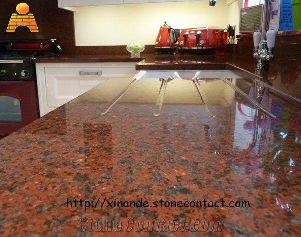 Red Granite Countertops Kitchen   Google Search