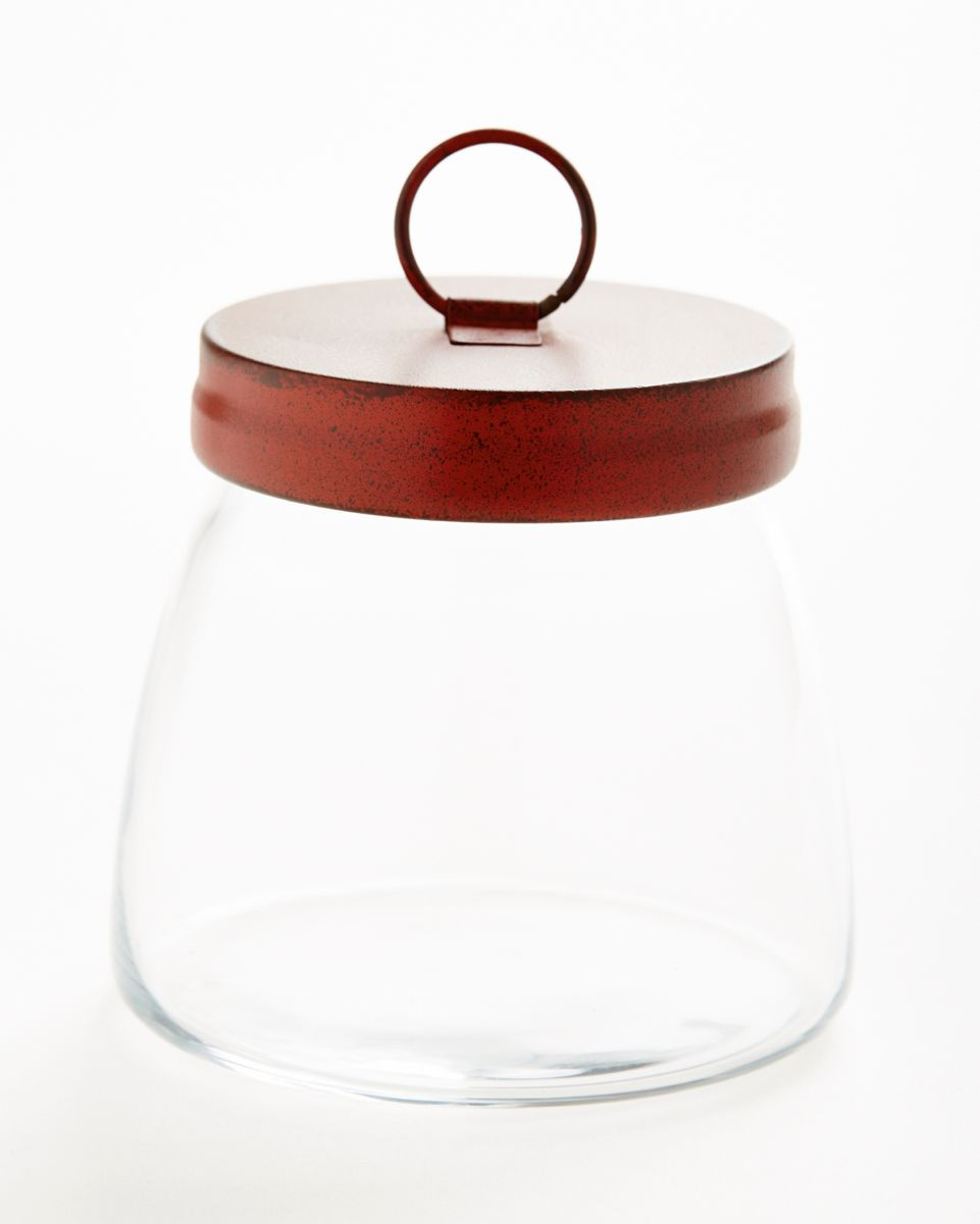 Libbey Vibe Jar S Attractive Inverse Flare Will Enhance Candy Or Coffee Storage Mineral Salts Other Layered Gourmet Specialties