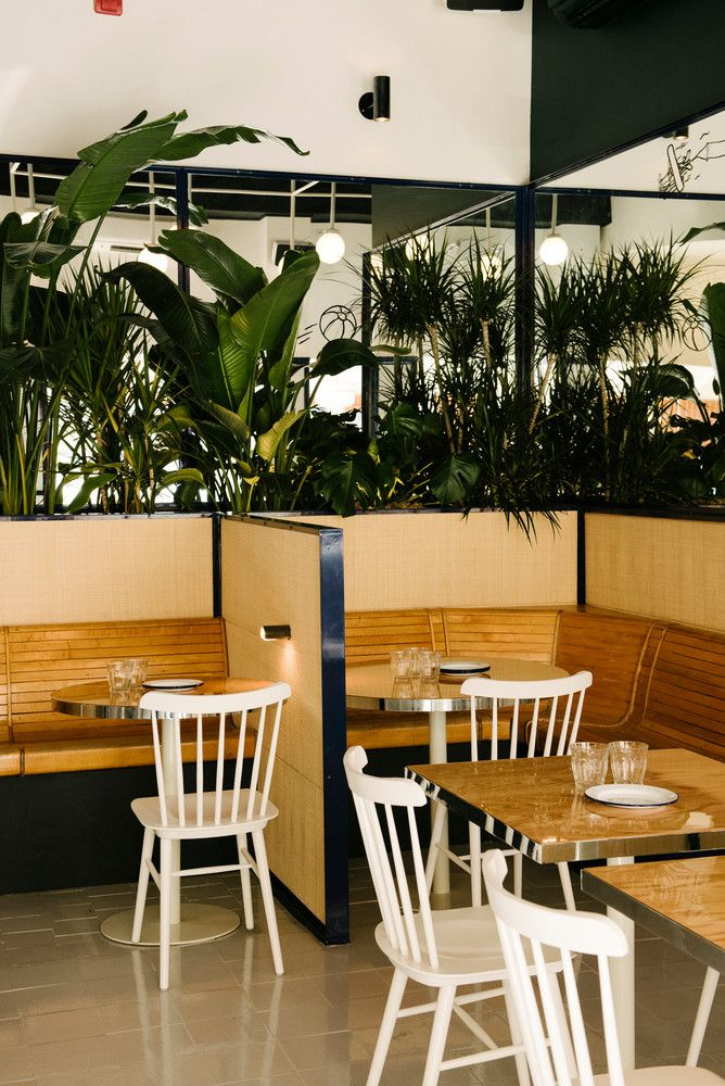Inside nyc   newest dreamiest restaurant also matt abramcyk new  summer day cafe review interior rh pinterest