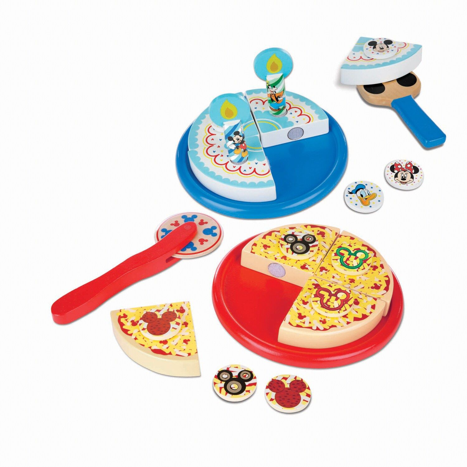 Disneys mickey mouse wooden pizza birthday cake set by