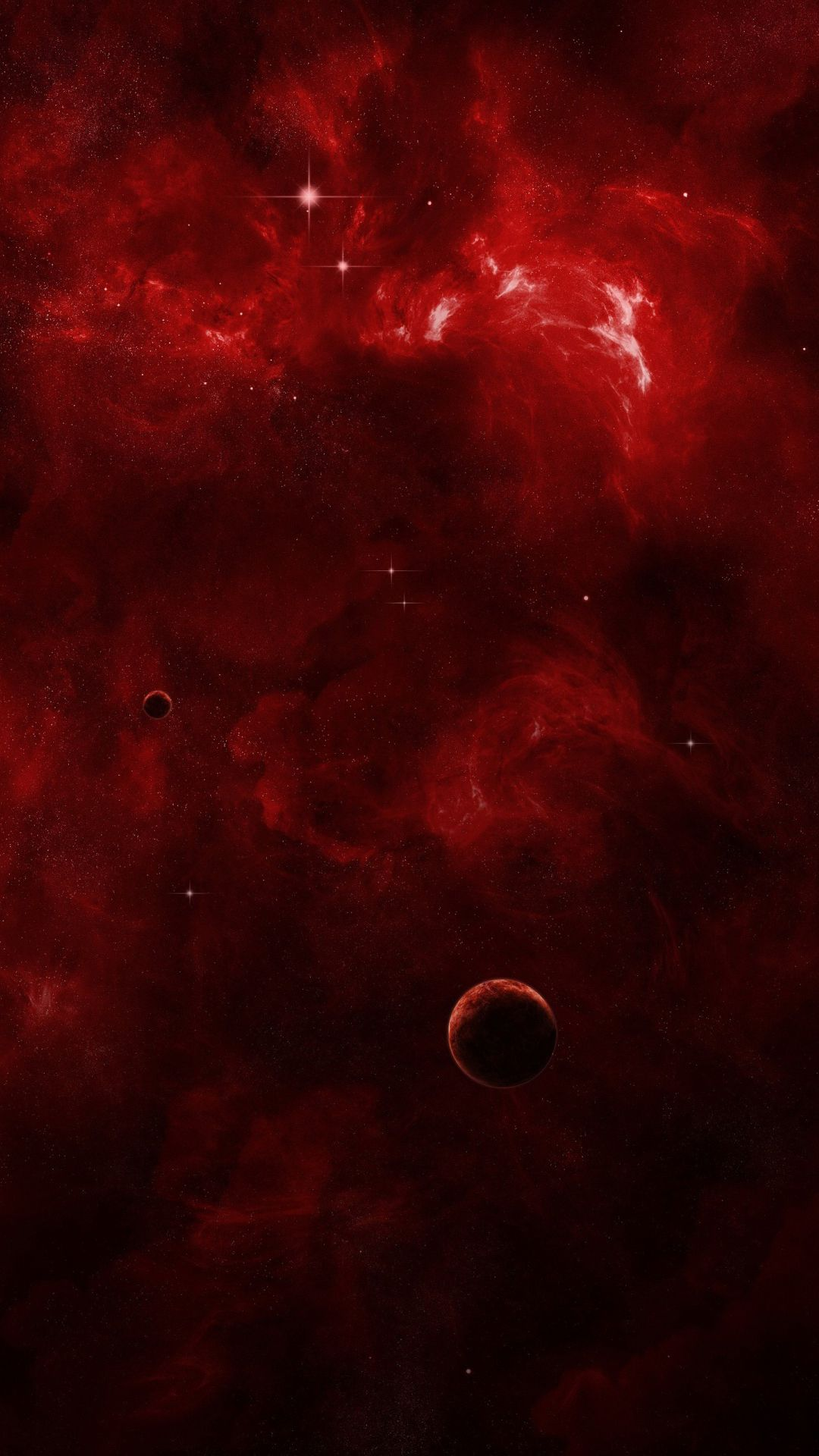 Red Cosmic Nebula Wallpaper Red Colour Wallpaper Best Iphone
