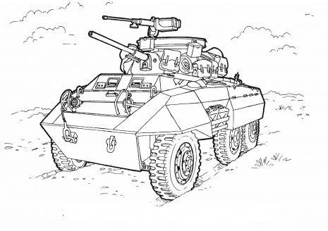 Military Vehicles With Weapons | Military Vehicles Coloring Pages ...
