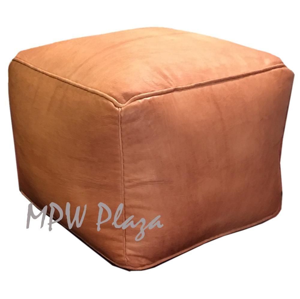 Awe Inspiring Sand Square Pouf Square Ottoman Moroccan Pouf Stuffed In Machost Co Dining Chair Design Ideas Machostcouk