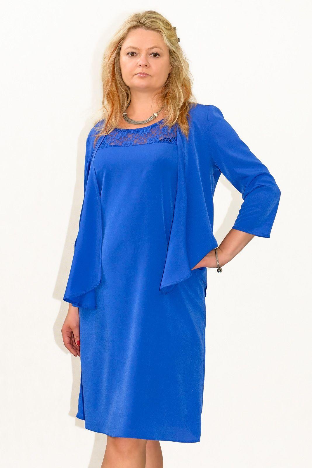 6d9225554a Elegancka sukienka XXL BELLFLOWER plus size 40-60 duże rozmiary BLUE ...