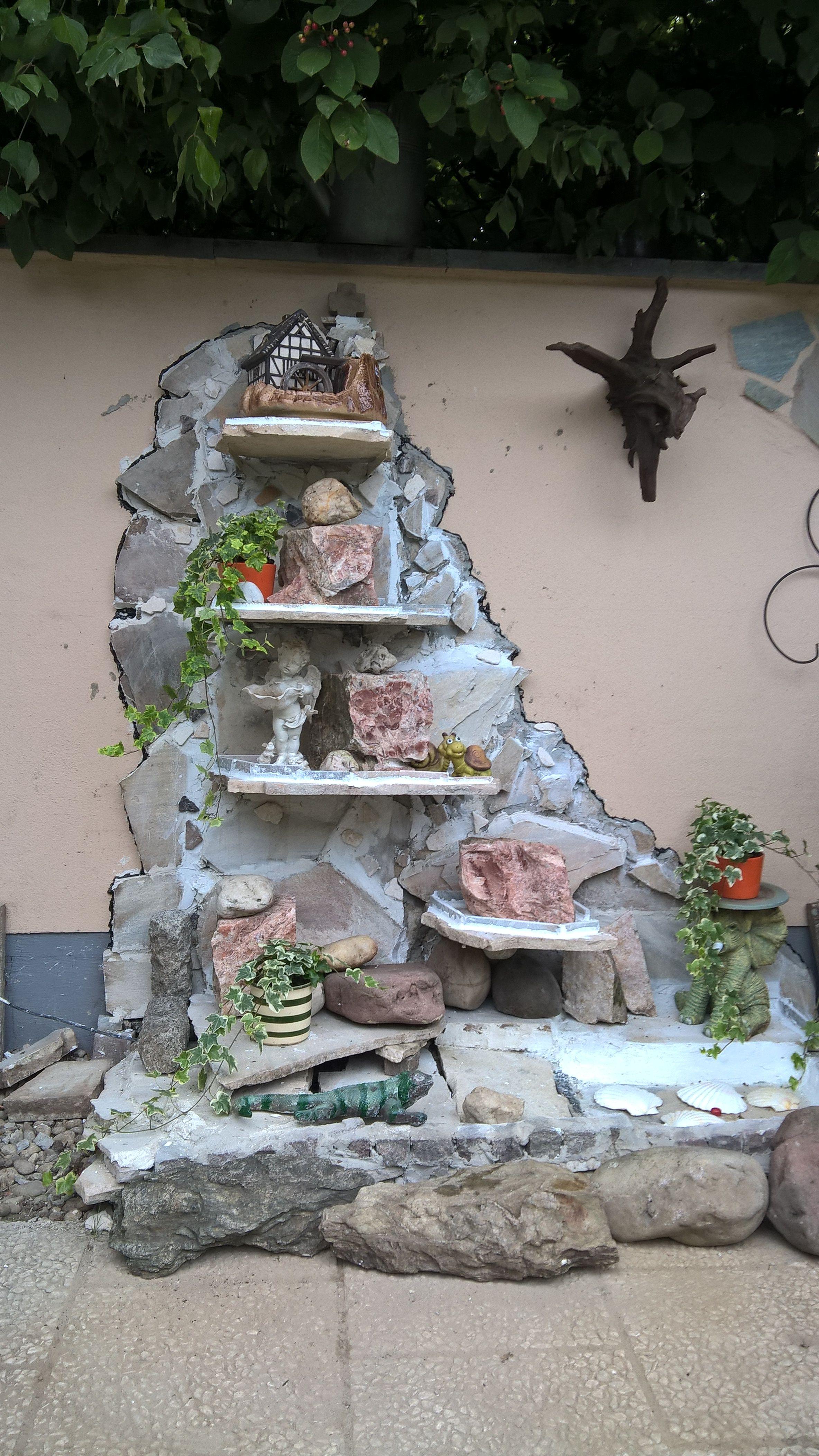 Wand Wasserfall Mit Marmorplatten Eigene Designs Garten