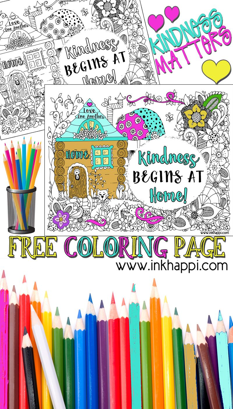 A Coloring Page And Message