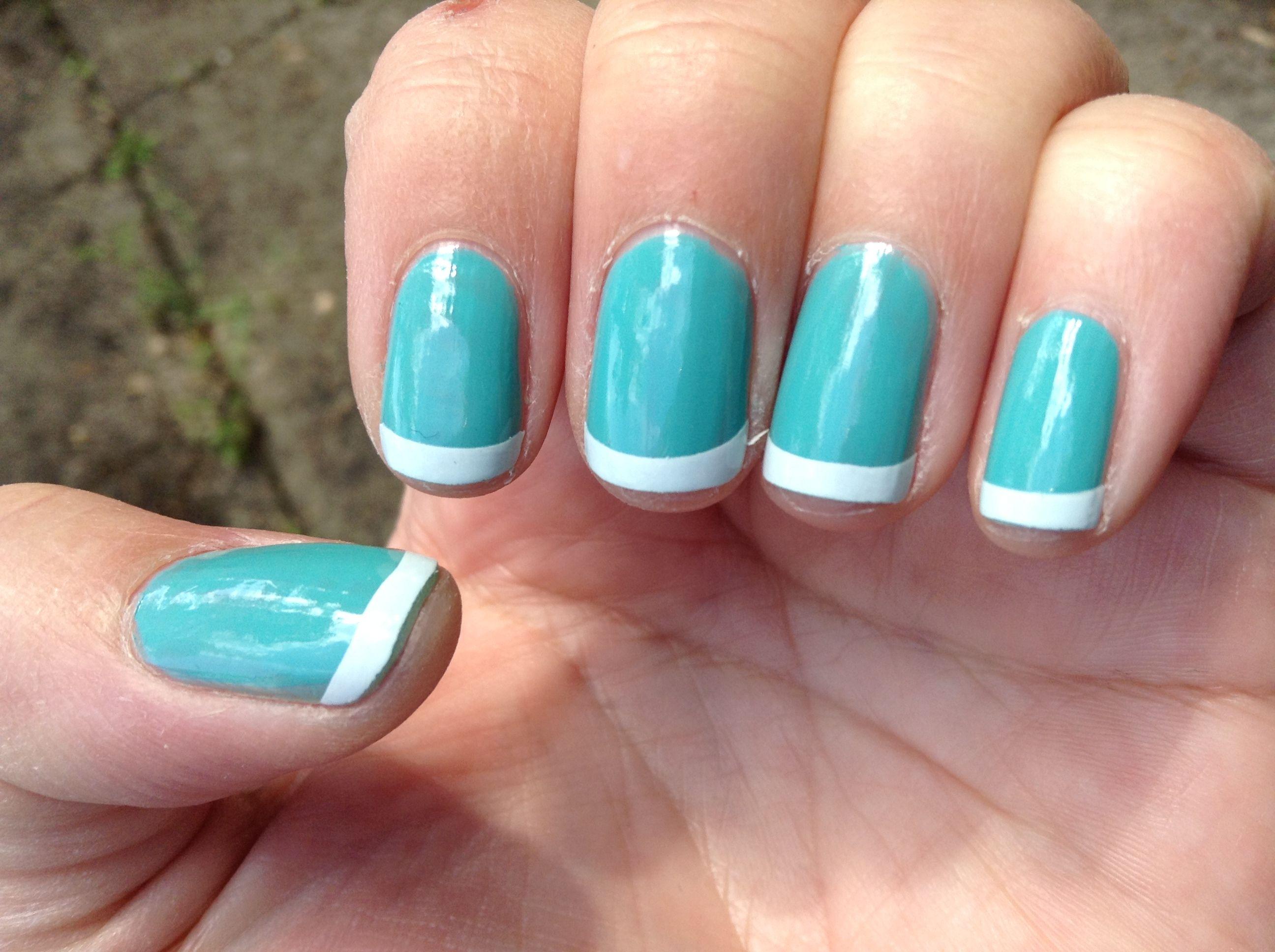 Tiffany & Co. Nails! Apply two thin coats of Loreal #111: Not A ...