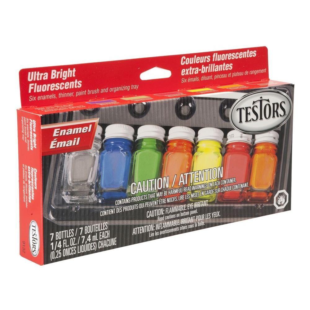 Testors 025 oz 6 color fluorescent enamel paint set 6 pack testors 025 oz 6 color fluorescent enamel paint set 6 pack geenschuldenfo Choice Image