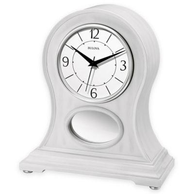 Bulova Merrick Mantel Clock In White Mantle Clock Mantel Clock Clock