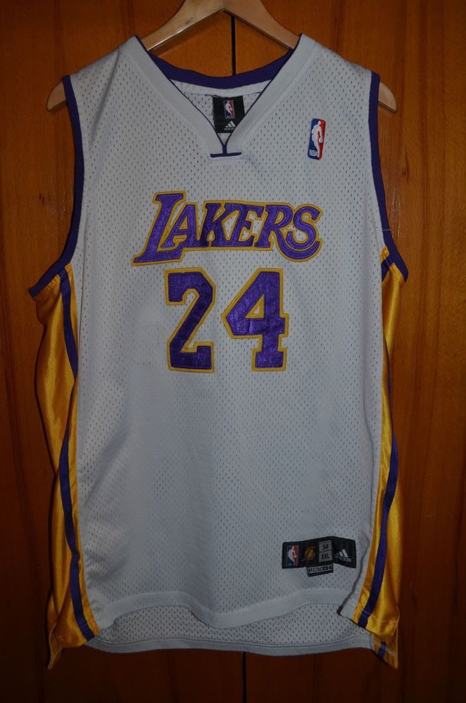 Nba Los Angeles Lakers Authentic Basketball Shirt Jersey Adidas 24