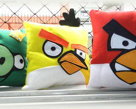 Trio de almofadas angry birds r 135 75 trio de almofadas - Angry birds trio ...
