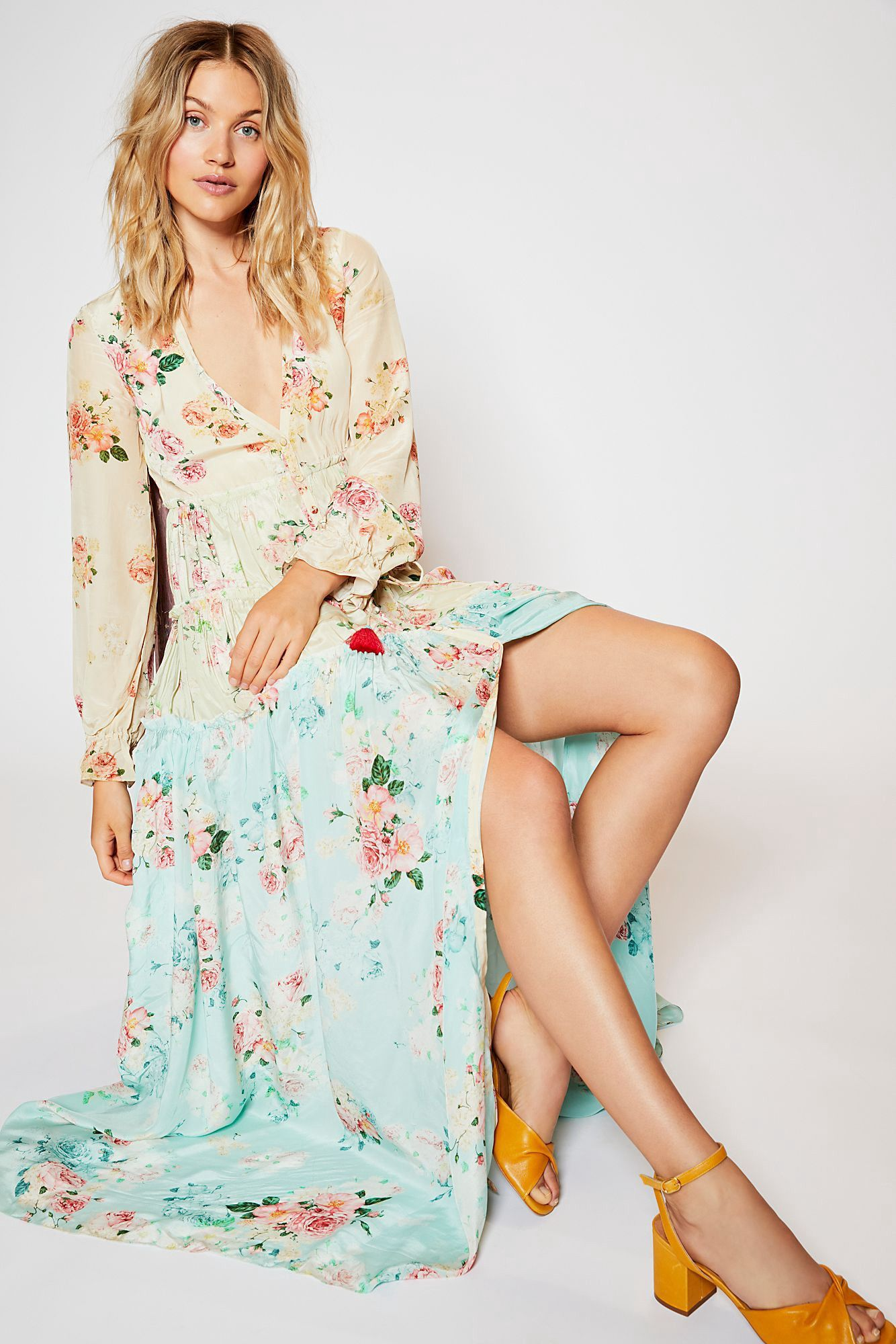 e8b35a2a7d24 Free People Mixed Floral Maxi Dress - XS | Products | Floral maxi ...