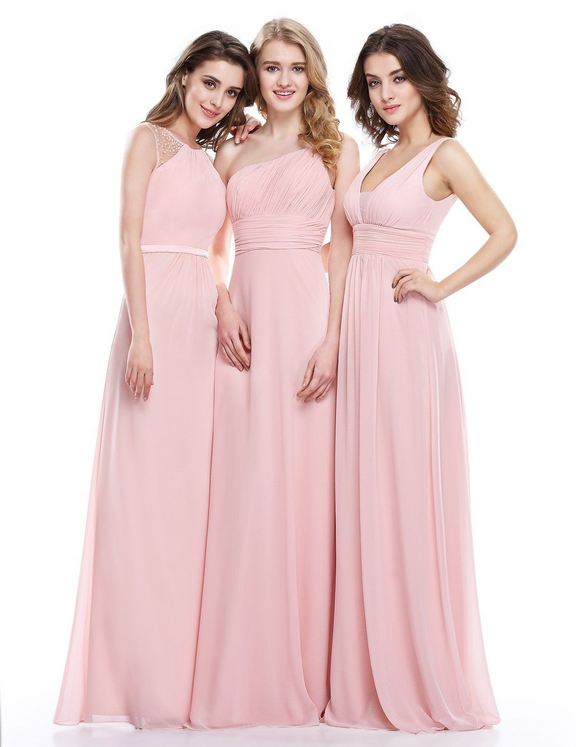 0c333770fc1 Ever Pretty Double V-Neck Ruched Waist Ladies Long Evening Dress 08110   Amazon Fashion