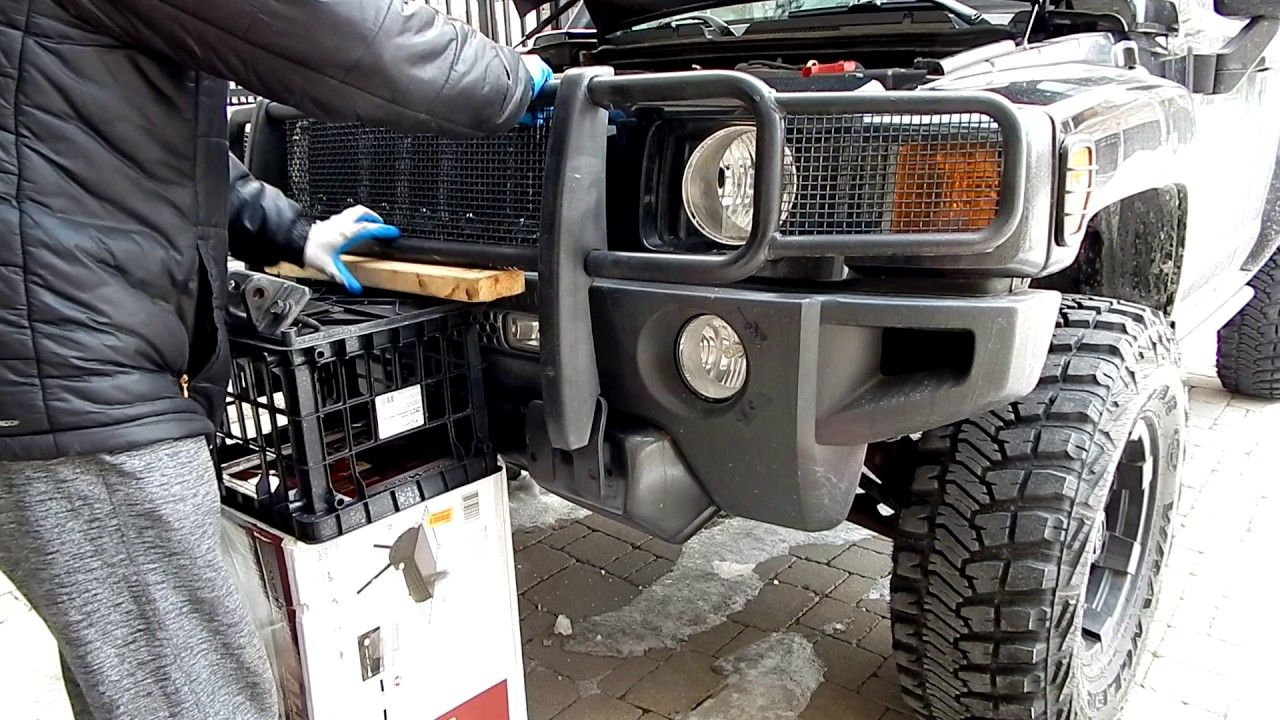 How To Install Brush Guard - Hummer H11 Grille Guard ... | hummer h3 grill guard