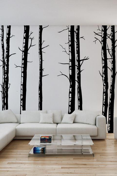 Birch Tree Wall Decal by WALLTAT.com
