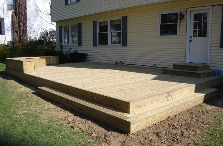 Low level treated deck pic hudson ohio for the home for How to build a low deck