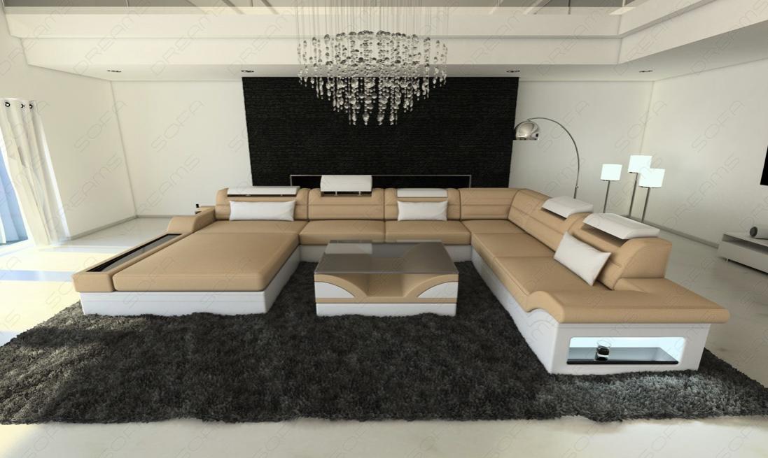 Big Fabric Sectional Sofa Orlando XL LED in 2019 | SOFA ...