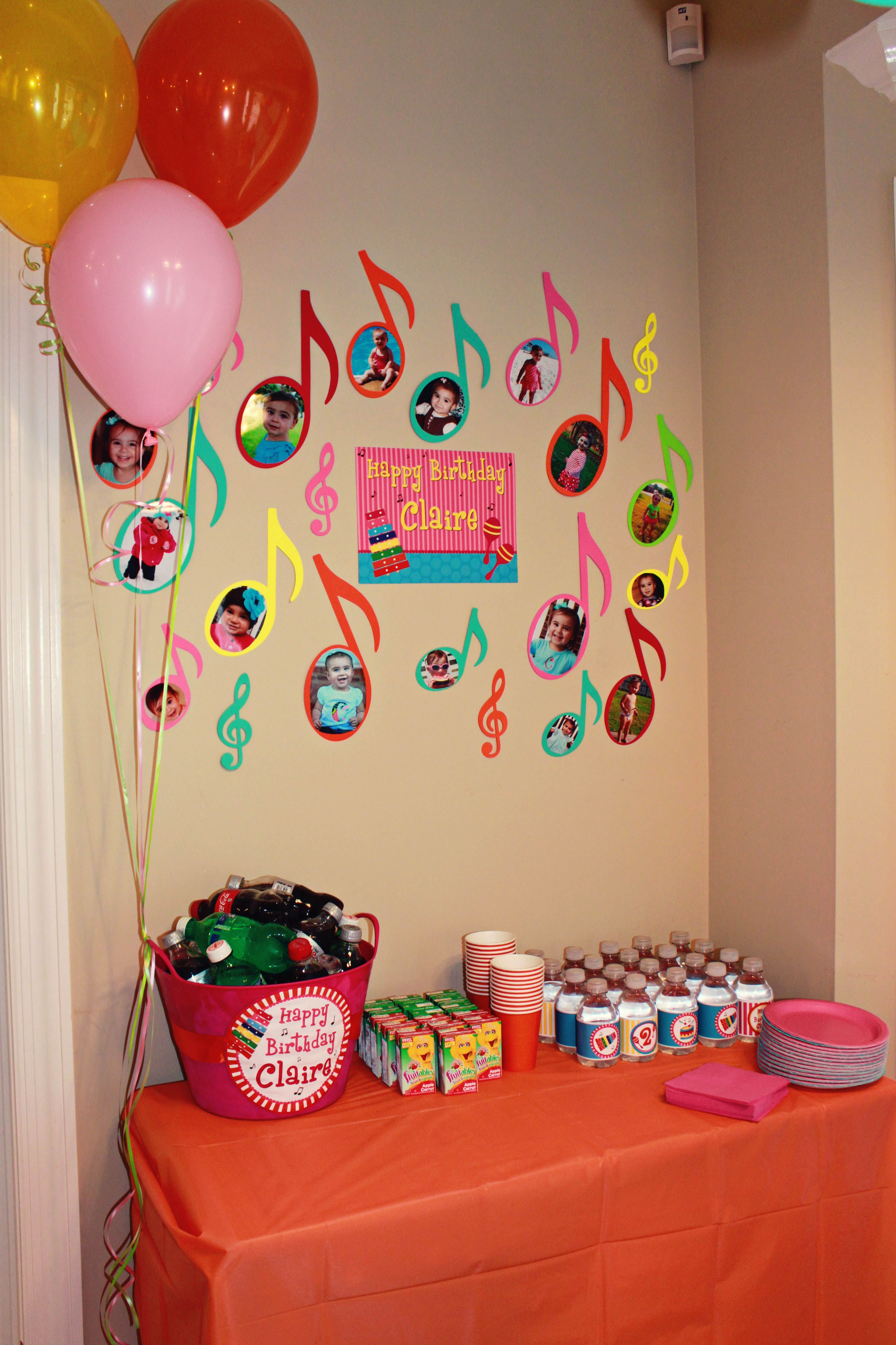 Musical Theme Birthday Party For Claire Part 1 Details Noam