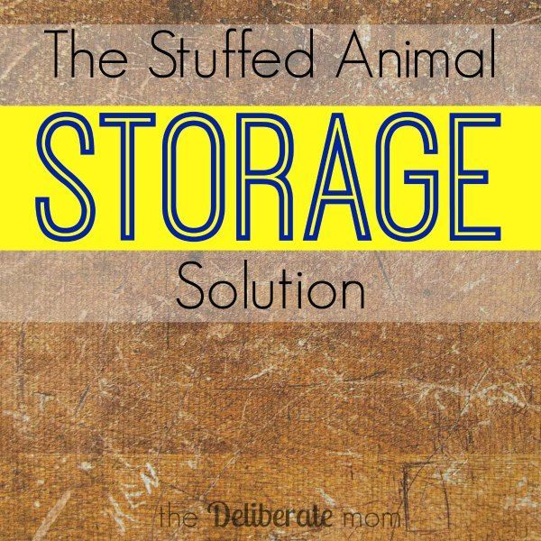 The Stuffed Animal Storage Solution Organizing Stuffed