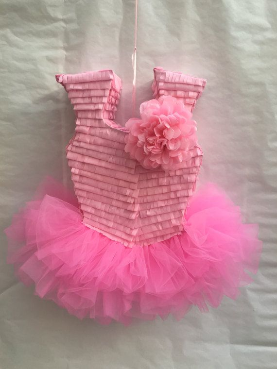 This beautiful Ballerina Themed Piñata is sure to be the talk of your party. Whether you fill it up with treats for smashing or use it as decor or photo prop, this piñata will be the perfect detail for your party.    *Piñata measures 24 high, 6 wide  *Holds approximately 4-5 pounds of candy  *Sturdy enough for multiple guest to participate  *Easy to fill opening on top    ---------------CUSTOMIZATION---------------  My piñatas are handmade and I am more than happy to work with you on a…
