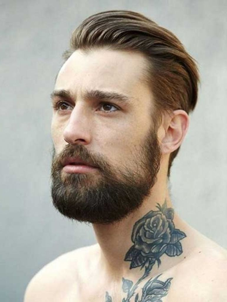 Mens Combed Back Hairstyles