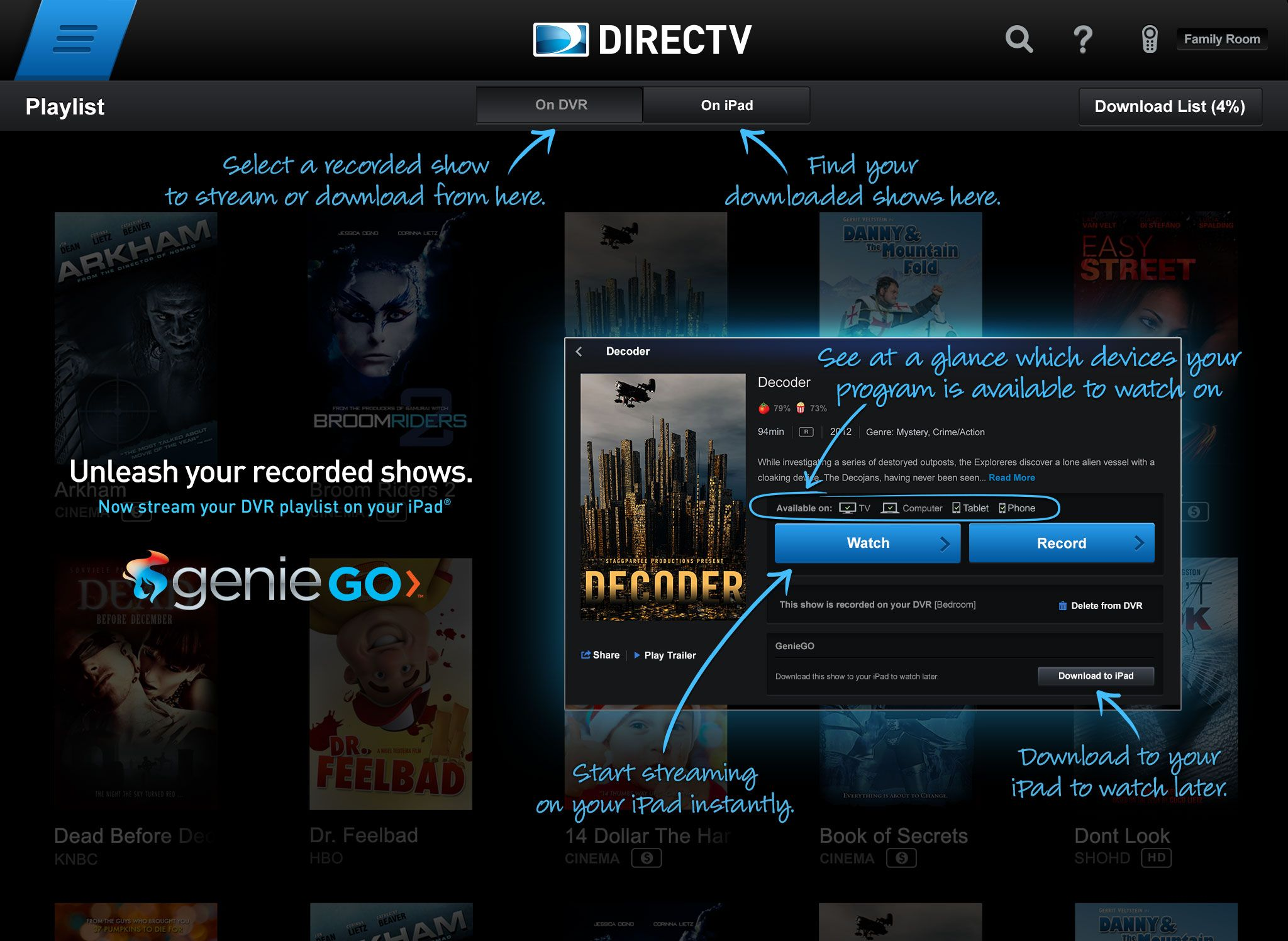 Directv App For Ipad Adds Social Features And Finally Geniego With Images Directv App Ads