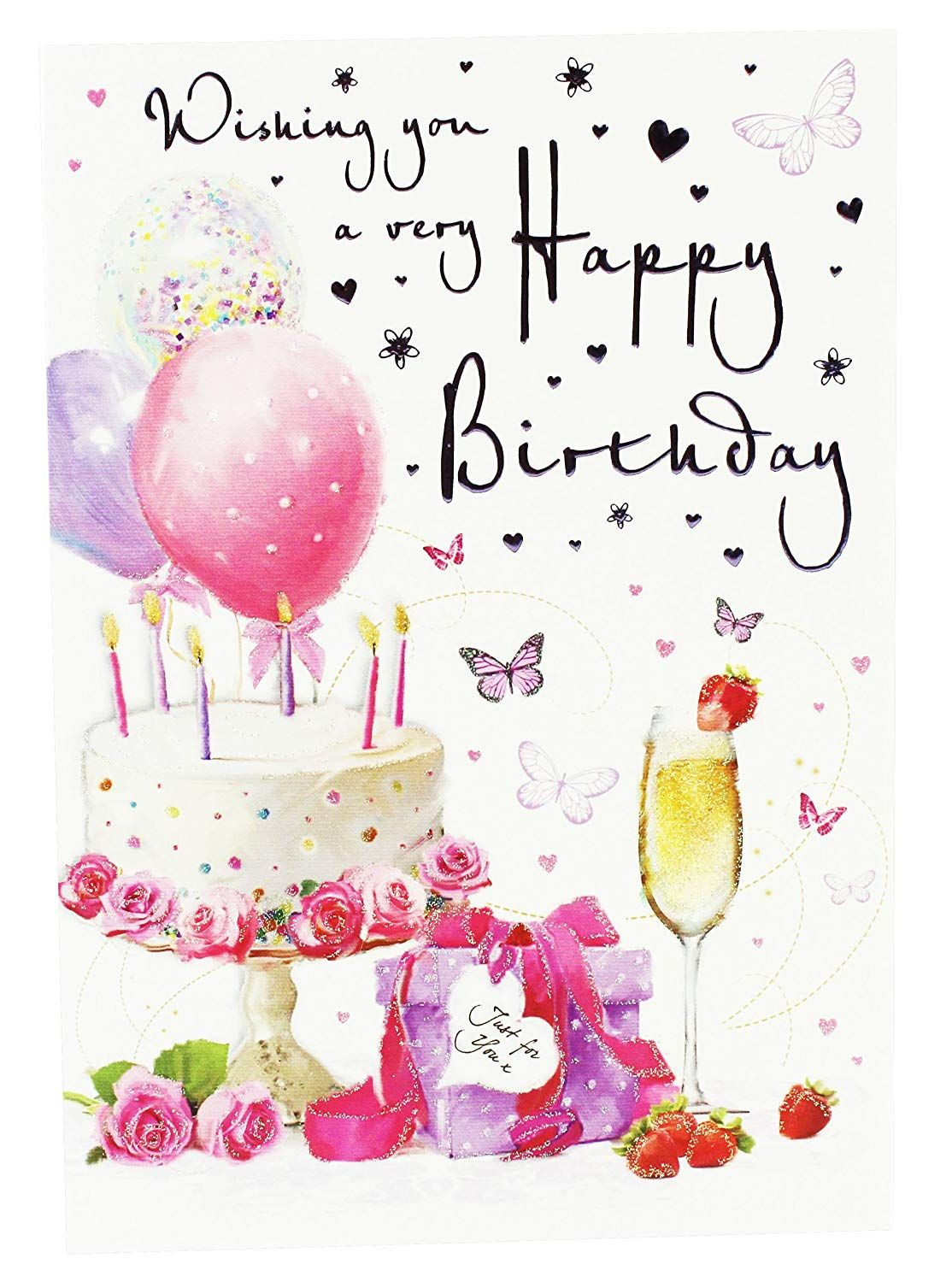 Happy Birthday Wishes Greeting Card Verse Ladies Girls