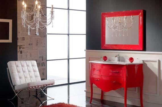 Baños En Color Rojo Muebles De Baño Cuarto De Baño Rojo Y Decoracion Baños