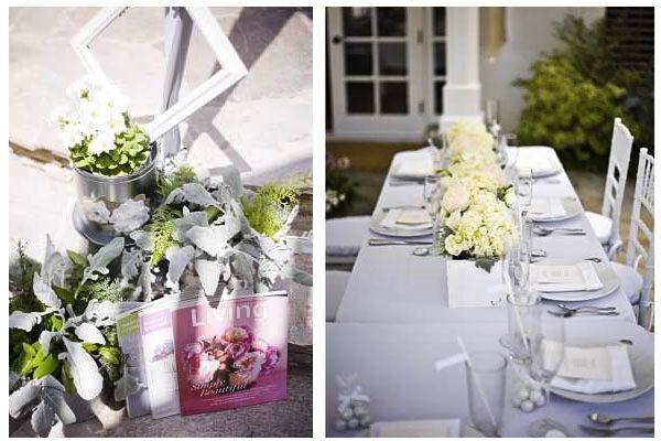 classic white martha stewart inspired bridal shower