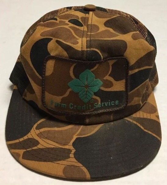 8d821998 Vtg Farm Credit Service Trucker Hat Farm Agriculture Patch Cap K Products  Camo #fashion #clothing #shoes #accessories #mensaccessories #hats (ebay  link)