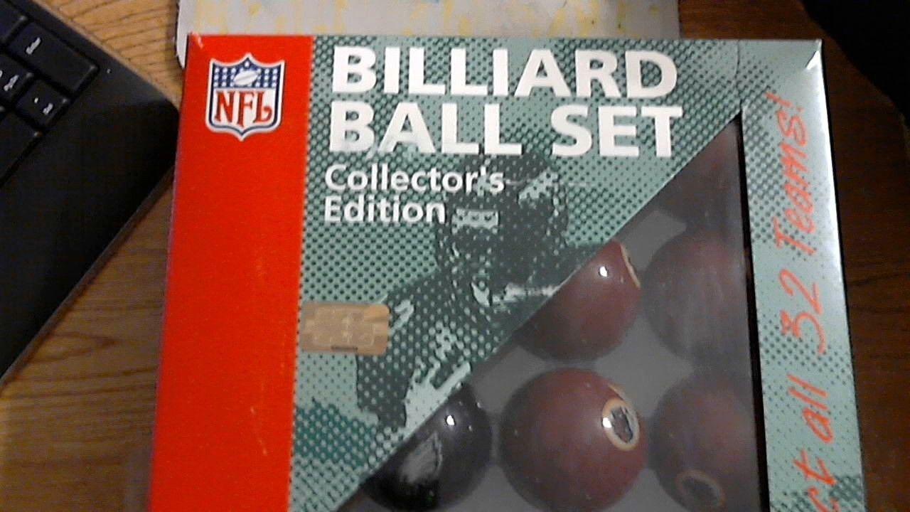 New redskins eagles pool balls collectors edition