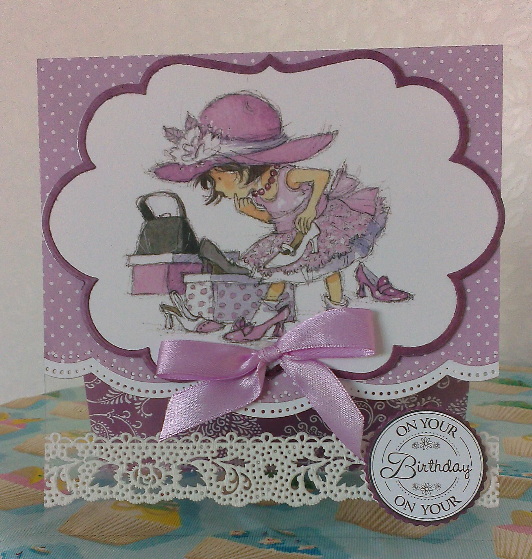 Handmade card using Lili of the valley art pads and Marianne dies