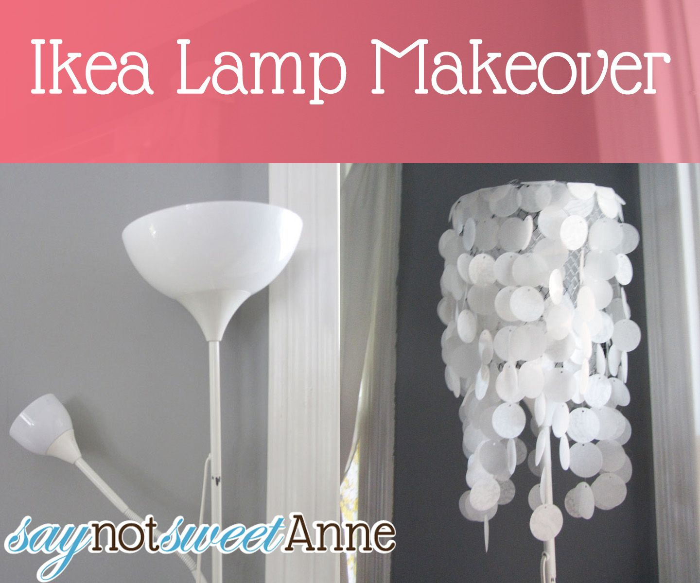 Ikea Lamp Makeover Sweet Anne Designs Ikea Lamp Lamp Makeover Floor Lamp Makeover