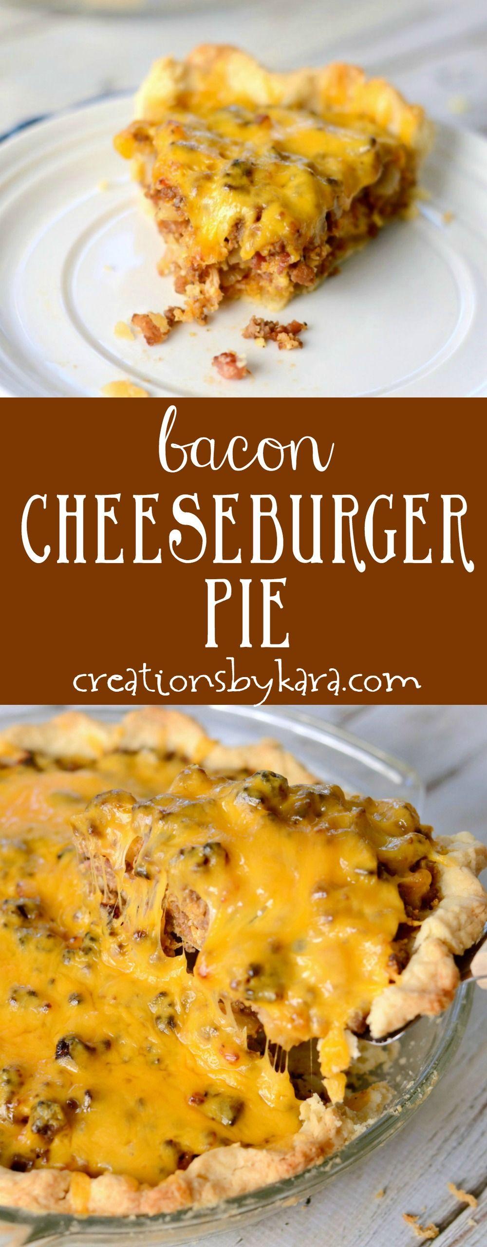 Bacon Cheeseburger Pie Recipe - Creations by Kara