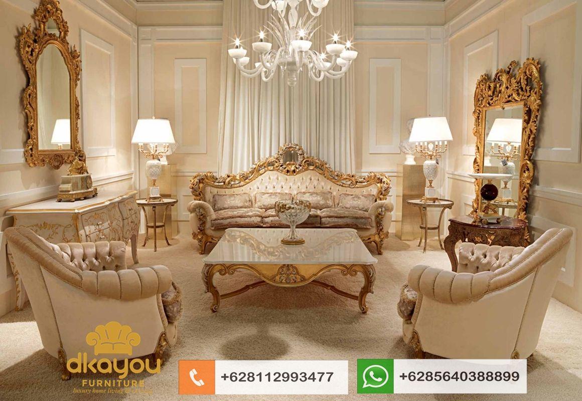 Set Sofa Mewah Klasik Mebel Kursi Tamu Koltuk Takimi Sksrt570 Dkayou Furniture Indonesia Furnitur Ruang Keluarga Ruang Keluarga Mewah Set Ruang Keluarga