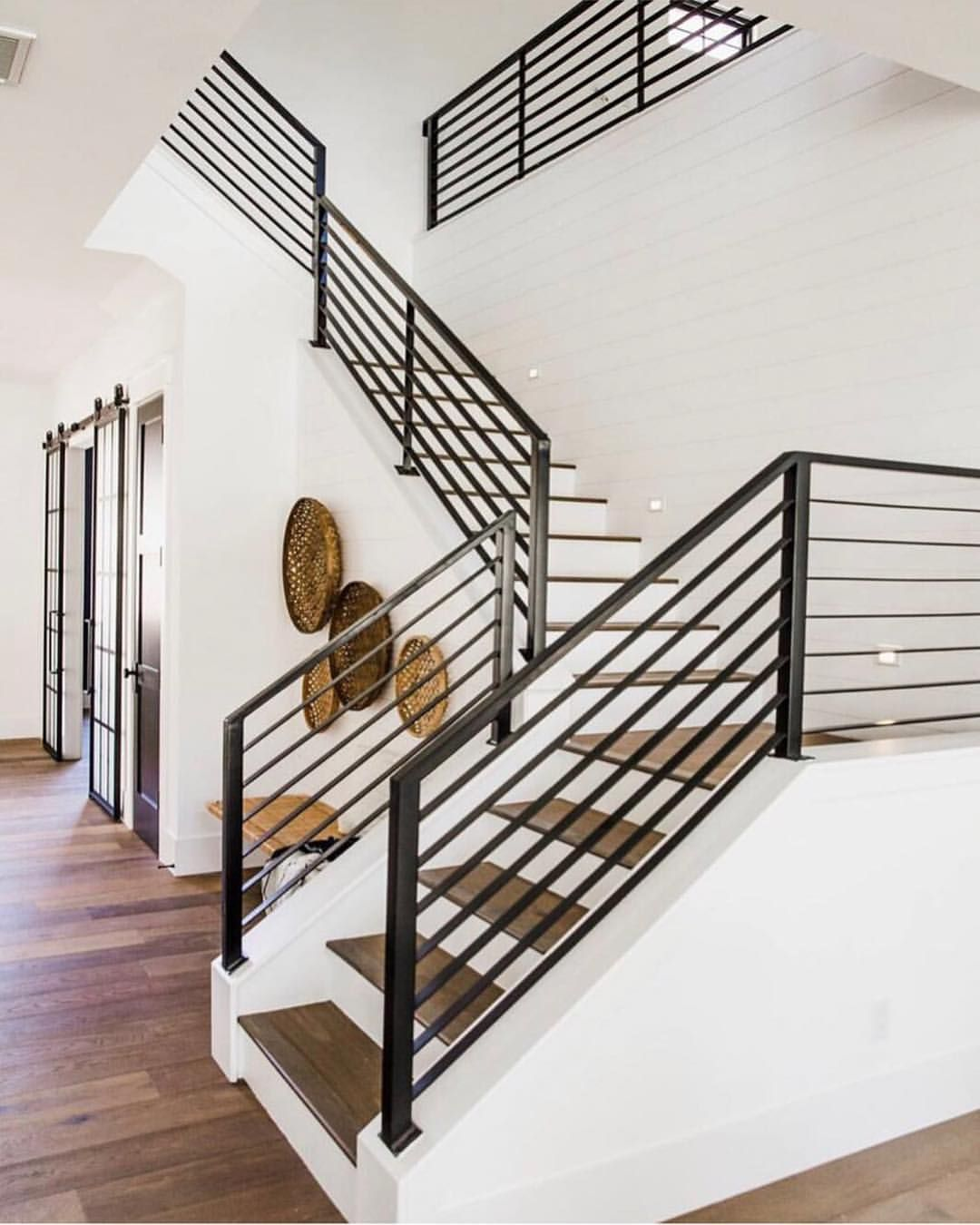 "Audrey Crisp's Instagram profile post: ""Gorgeous modern railings in this space by: @uptownphx & @driftwoodliving I always adore stairs like these! Congrats to our winner @bri.gee…"""