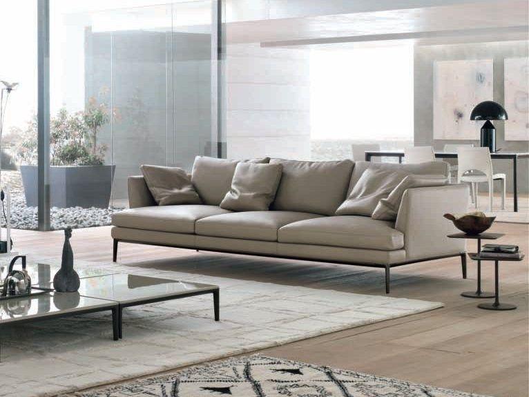 Upholstered Leather Sofa Portofino By ALIVAR | Design Giuseppe Bavuso