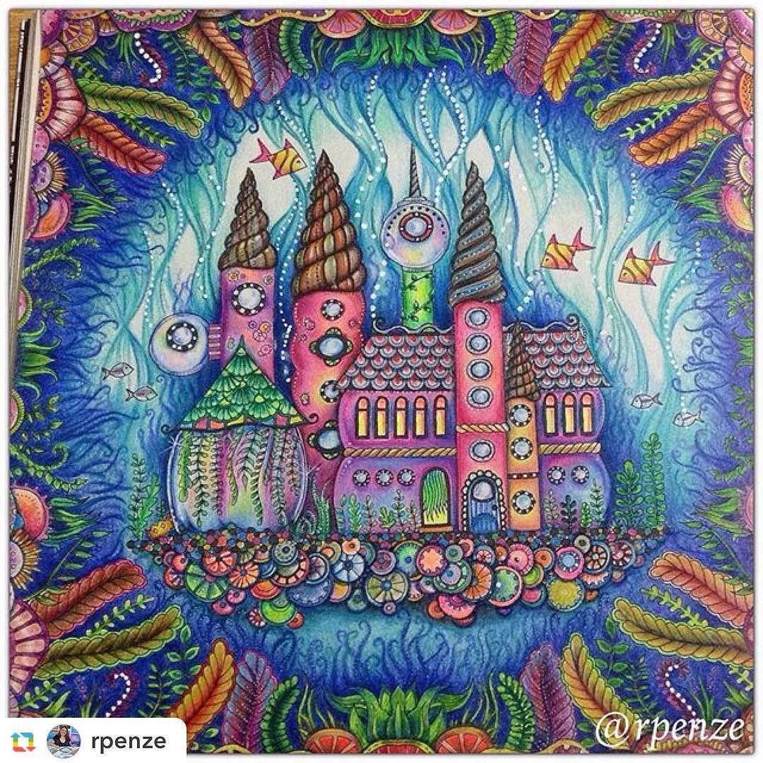 Jardimsecreto Johannabasford Artwork Artterapy Magic Mandala By