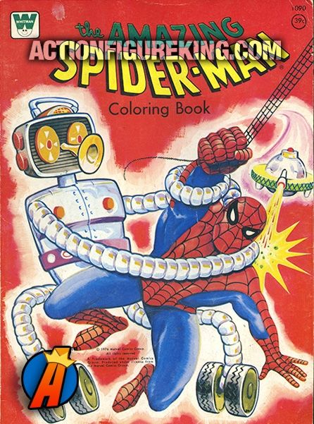 Vintage 60 Page 1976 The Amazing Spider Man Coloring Book From Whitman Spiderman Coloringbook Colo Coloring Books Vintage Coloring Books Superhero Coloring