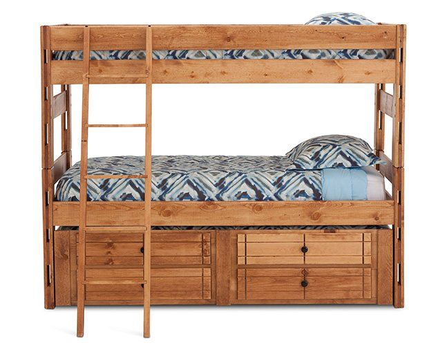 Durango Bunk Bed With Trundle And Ladder 853 Rowe Furniture Bunk Bed With Trundle Furniture