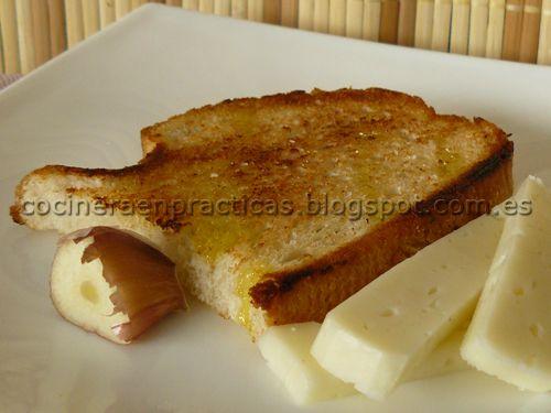 Cocinera en Prácticas: Bruschetta básica o Pan con aceite