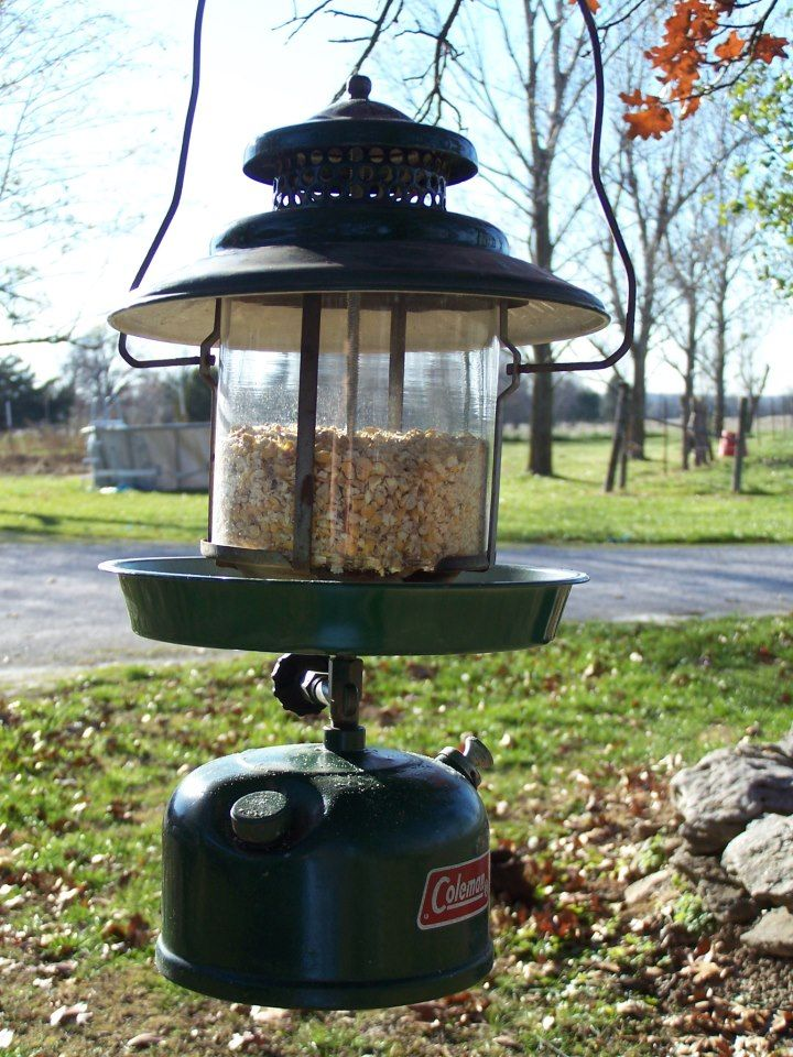 Bird Feeder made from an old Coleman Lantern | Creative Ideas